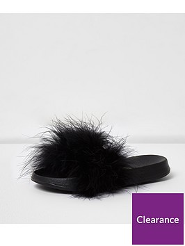river-island-girls-black-fluffy-sliders