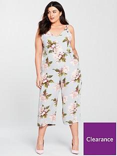 c5400664acf AX PARIS CURVE Curve Floral Print Jumpsuit