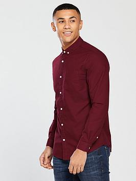 v-by-very-mens-long-sleeved-button-down-oxford-shirt-burgundynbsp