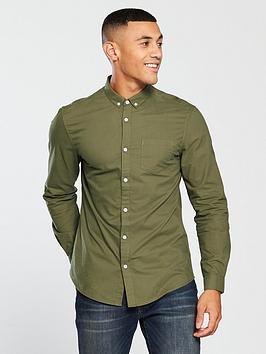 v-by-very-mens-long-sleeved-button-down-oxford-shirt-khaki