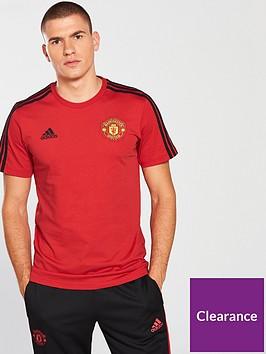 4937908fa0a adidas Manchester United 3 Stripe Tee