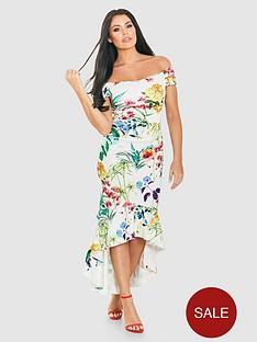 jessica-wright-bardot-floral-scuba-fluted-hem-midi-dress