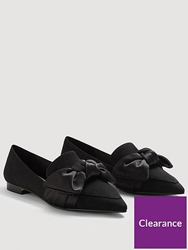 mango-loti-satin-bow-shoes-black