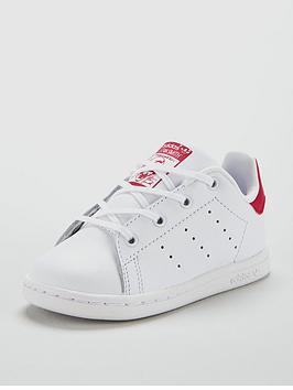 adidas-originals-stan-smith-infant-trainer--whiterednbsp