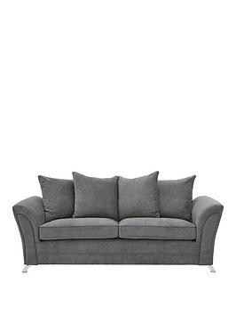Very Dury Fabric 3 Seater Scatter Back Sofa Picture