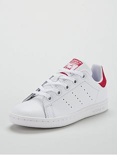 adidas-originals-stan-smith-childrens-trainer-whiterednbsp