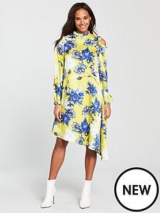 v-by-very-unique-asymmetric-printed-frill-dress