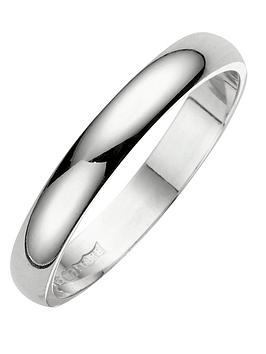 Love GOLD Love Gold 18 Carat White Gold D Shaped Wedding Band 3Mm Picture