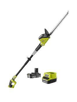 ryobi-rpt184520-18v-one-cordless-45cm-pole-hedge-trimmer-starter-kit-1-x-20ah