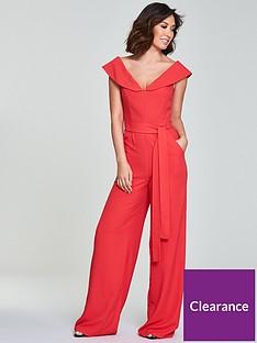 myleene-klass-tie-waist-jumpsuit-coral