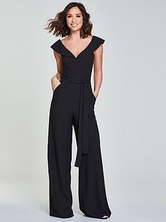 myleene-klass-tie-waist-jumpsuit-black