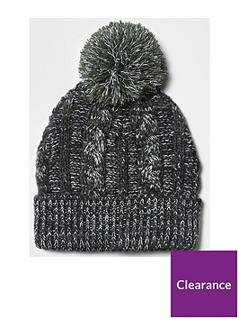 river-island-bobble-twist-beanie
