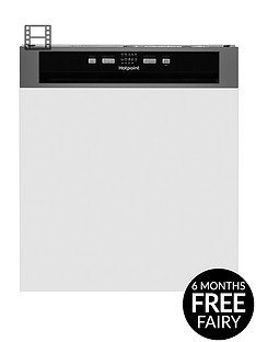 hotpoint-hbc2b19xuknbsp13-place-full-size-semi-integrated-dishwasher-with-quick-wash-and-optional-installation-blacksilver