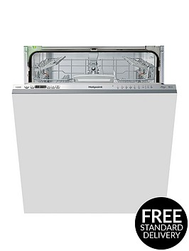 hotpoint-hio3t1239weuknbsp14-placenbspfull-size-integrated-dishwasher-with-quick-wash-3d-zone-wash-super-silentnbsp--stainless-steel