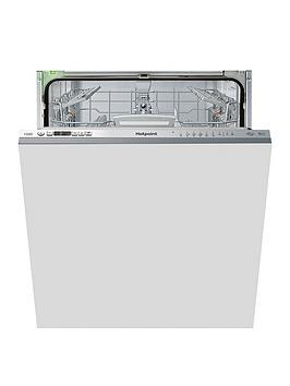 Hotpoint   Hio3T1239Weuk 14-Place Full Size Integrated Dishwasher With Quick Wash, 3D Zone Wash, Super Silent - Stainless Steel - Dishwasher Only