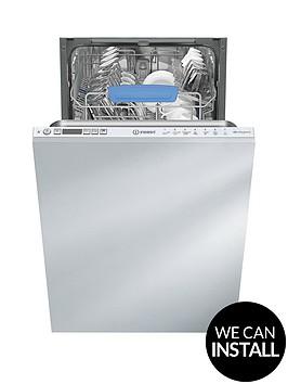indesit-disr57m96zuknbsp10-placenbspslimline-integrated-dishwasher-with-optional-installation-white