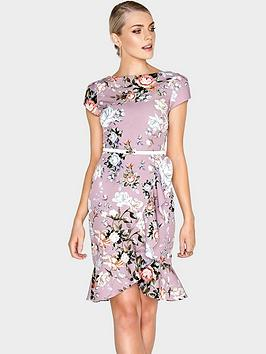 paper-dolls-pretty-rose-fluted-frill-dress