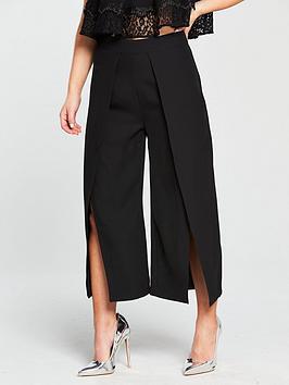lost-ink-lost-ink-petite-cropped-split-front-wide-leg-trouser