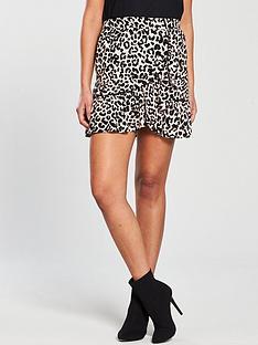 miss-selfridge-animal-print-flippy-skirt