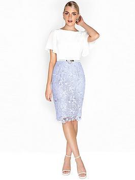 paper-dolls-chiffon-sleeve-detail-crochet-2-in-1-dress