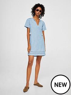 mango-pompom-dress