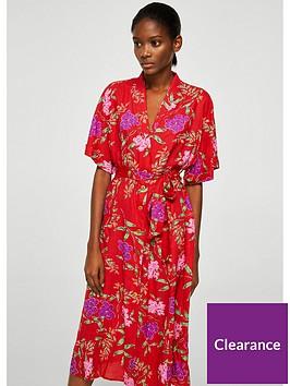 mango-robe-dress-red