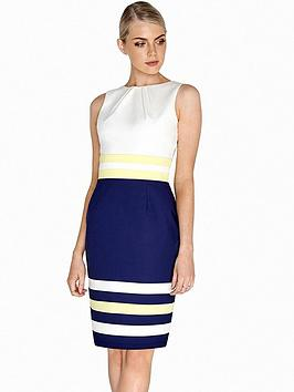paper-dolls-colour-block-contrast-dress-navywhite
