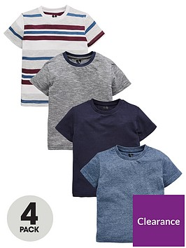 mini-v-by-very-boys-4-pack-stripe-and-blue-t-shirt-multi