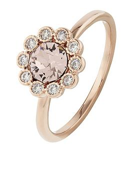 accessorize-rose-gold-flower-ring-pink