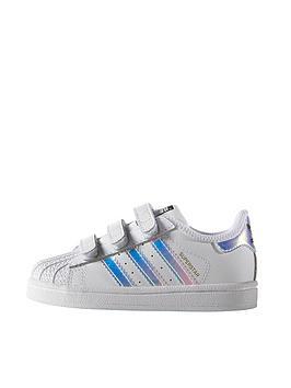adidas Originals Superstar Infant Trainer - White Iridescent ... ea5455f2edae
