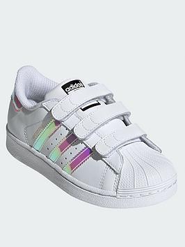 ee58dab28c26 adidas Originals Superstar Childrens Trainer - White Iridescent ...