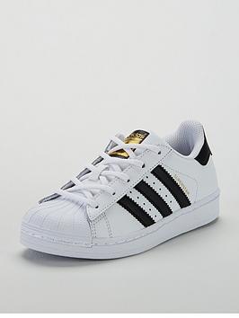 0b00b3c0f81 adidas Originals Superstar Childrens Trainers - White