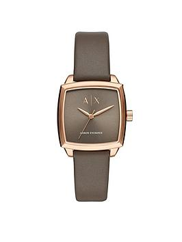 armani-exchange-rose-gold-tone-square-case-brown-leather-strap-ladies-watch