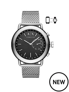 armani-exchange-armani-exchange-mens-hybrid-smartwatch-stainless-steel-case-mesh-bracelet-with-black-dial