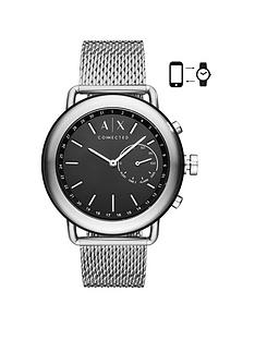 armani-exchange-connected-stainless-steel-case-mesh-bracelet-black-dial-mens-hybrid-smartwatch