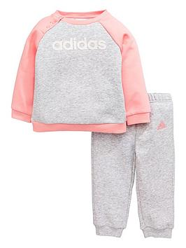 adidas-baby-girls-linear-suit-grey-heathernbsp