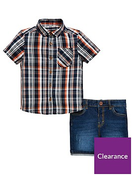 mini-v-by-very-boys-check-shirt-and-denim-short-set-multi