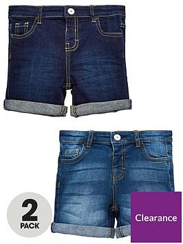 mini-v-by-very-boys-2-pack-new-washes-denim-shorts-blue