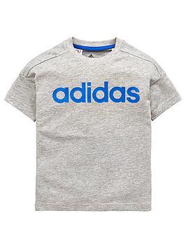 adidas-younger-boys-linear-tee-medium-grey-heathernbsp