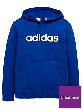 adidas-boys-linear-hoodienbsp--royal-bluenbsp