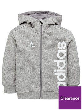 adidas-younger-boys-linear-hoodienbsp--grey
