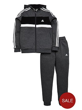 adidas-boys-cotton-tracksuit-dark-grey-heathernbsp