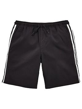 adidas-boys-3-stripe-swim-short-black