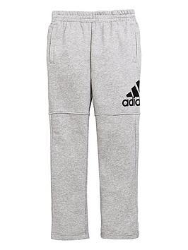 adidas-boys-logo-pants-medium-grey-heathernbsp