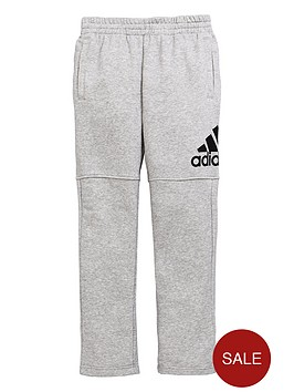 adidas-boys-logo-pants-medium-grey-heathernbsp
