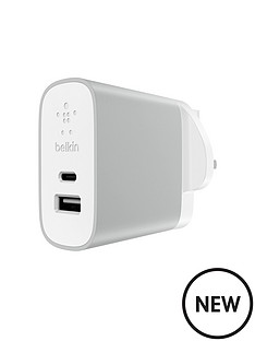 belkin-usb-ctrade-usb-a-home-charger-silver