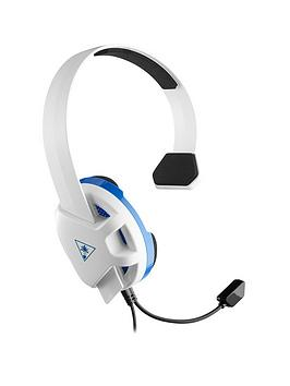 Turtle Beach Recon Chat Gaming Headset For Playstation 4 - White