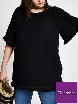 ri-plus-tassel-t-shirt-black
