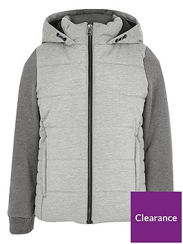 river-island-boys-grey-padded-jersey-sleeve-hooded-jacket