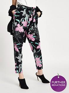 ri-petite-floral-tie-waist-tapered-trousers-black